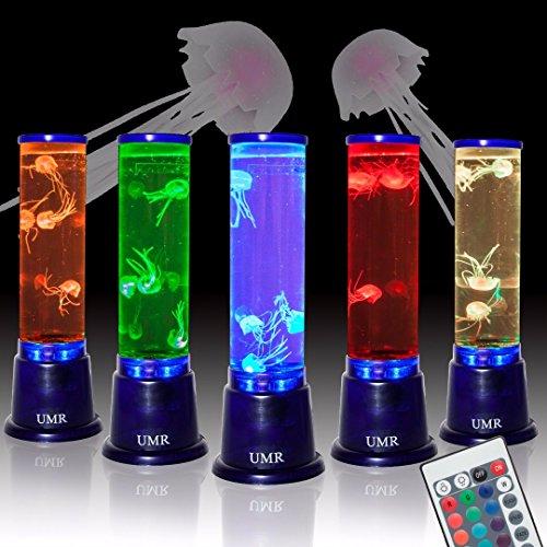 Umr Jellyfish Lamp Aquarium Mood Light W Large 14 Cylinder Tank 4