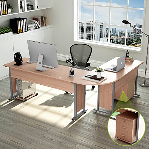 "87"" Tribesigns Largest Modern L-Shaped Desk With Return"