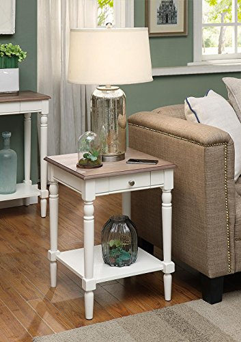 Convenience Concepts French Country Console Table With Drawer And - Convenience concepts french country coffee table