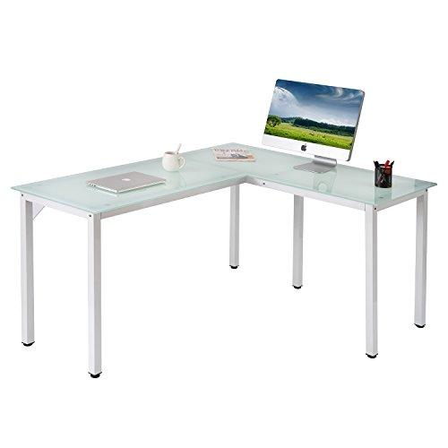 L Shaped Corner Desk Computer Workstation Home Office: ModernLuxe WF036969KAA L-Shape Home Office Corner Computer