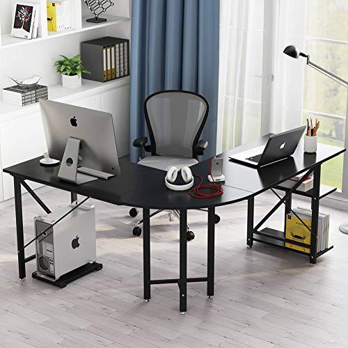 L Shaped Corner Desk Computer Workstation Home Office: Large L-Shaped Desk, LITTLE TREE 67″ Modern Corner