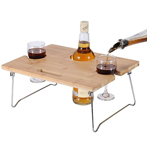 Inno Stage Portable And Foldable Wine And Snack Table For