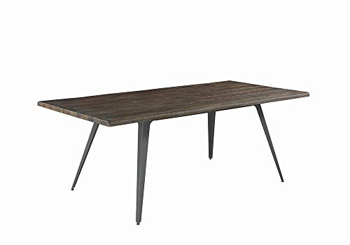 Fremont Live Edge Dining Table Dark Rustic Brown And