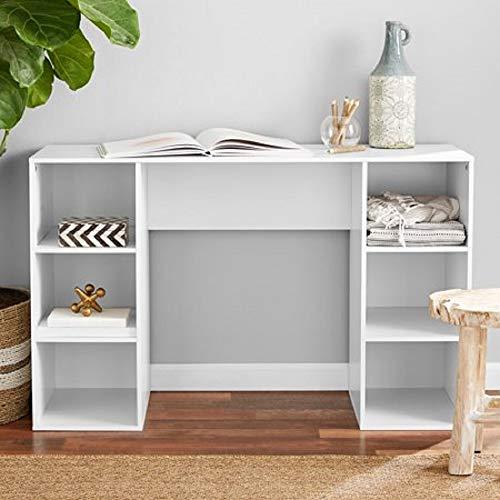 Mainstay` Student Desk, Black 6 Cube Storage Desk, White